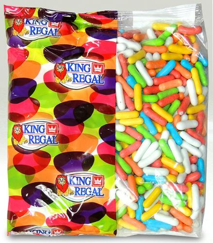 KR16 KING REGAL LICORICE DRAGEES (COMFITS) 1KG